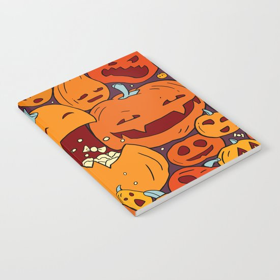 Halloween pumpkin pattern Notebook