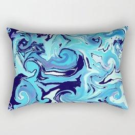 Blue Storm Rectangular Pillow