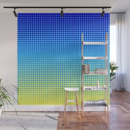 DOTTED PATTERN BLUE YELLOW Wall Mural