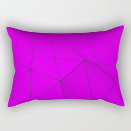 Violet low poly displaced surface with black lines Rectangular Pillow