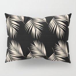 Palm Leaves Pattern #13 #Gold Touch #Black #decor #art #society6 Pillow Sham
