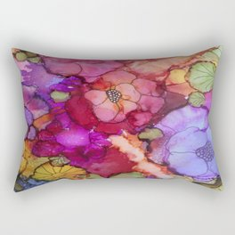 L and L Flower Explosion Rectangular Pillow