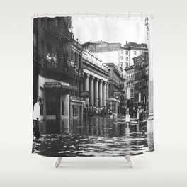 1938 Great Hurricane Westminister Street and the Arcade - Providence, Rhode Island Shower Curtain