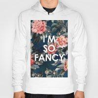 iggy azalea Hoodies featuring I'm So Fancy Iggy Azalea Inspired Watercolor Blush Peonies Art Print by payalprints
