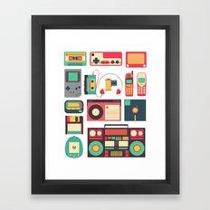 RETRO TECHNOLOGY 1.0 Framed Art Print