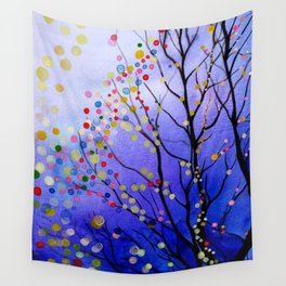sparkling winter night sky Wall Tapestry
