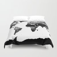 World map duvet covers society6 world map black white gumiabroncs Gallery