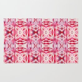 Summer Vibes Tie Dye in Red Peppermint Rug