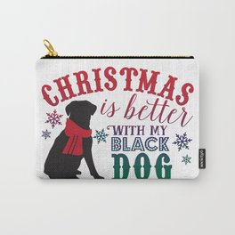 Christmas is Better with My Black Dog Carry-All Pouch