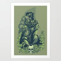 daunt Art Prints featuring Just Don't by Daunt