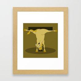 Monogram T Pony Framed Art Print