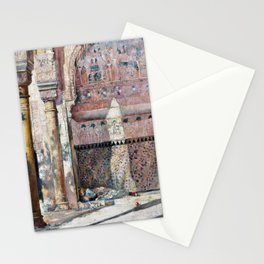 Basking, A Corner In The Alhambra - Tom Roberts Stationery Cards