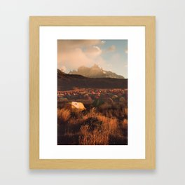 Patagonia Chile Morning Camp Framed Art Print