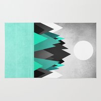 planet Area & Throw Rugs featuring Cold Planet by Elisabeth Fredriksson