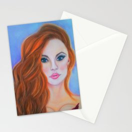 Glamorous Redhead Jessica Rabbit Stationery Cards