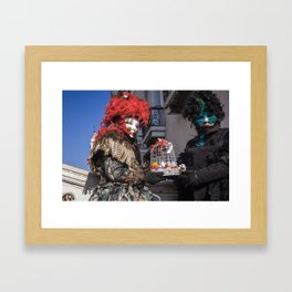 Carnival masks in Venice, Italy Framed Art Print