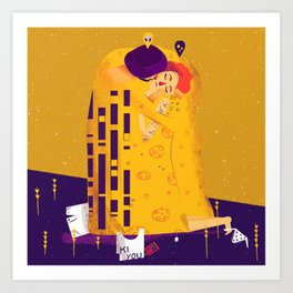 Der Kuss, actual love. Art Print