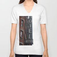 chelsea V-neck T-shirts featuring Chelsea by Leah Moloney Photo