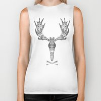 moose Biker Tanks featuring MOOSE by Kiley Victoria