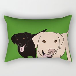 Tanner and Lily Best Labrador Buddies Rectangular Pillow
