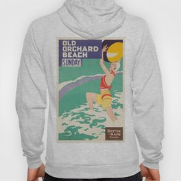 Vintage poster - Old Orchard Beach Hoody