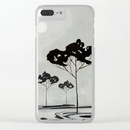 Watercolor Trees 17 Clear iPhone Case