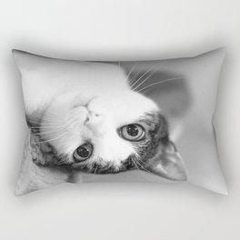 Upside down cat Rectangular Pillow