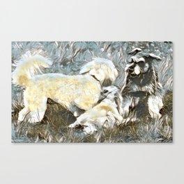 Hallie, Riley and Ava Art Canvas Print