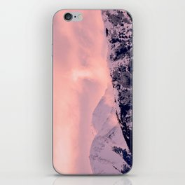 Kenai Mts Bathed in Serenity Rose - II iPhone Skin