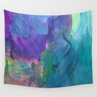 graffiti Wall Tapestries featuring Graffiti by Kristin Rodgers