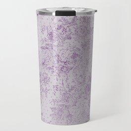 Lavender floral vintage damask pattern Travel Mug