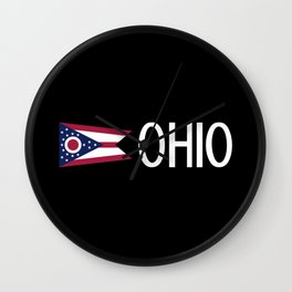 Ohio: Ohioan Flag & Ohio Wall Clock