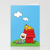 peanuts Stationery Cards featuring Peanuts time by geminiska