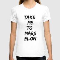 mars T-shirts featuring Mars by ClicheZero