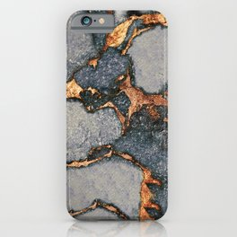 GREY & GOLD GEMSTONE iPhone Case