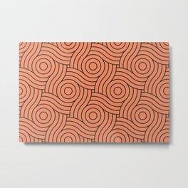 Circle Swirl Pattern - Inspire By Fringe Orange, Orange Slice, Fiery Sky Orange, Heirloom Tomato Metal Print
