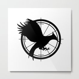 Catching Fire MockingJay  Metal Print