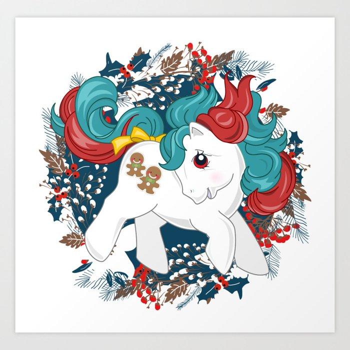 My Little Pony Christmas.My Little Pony Christmas Baby Art Print By Gertee