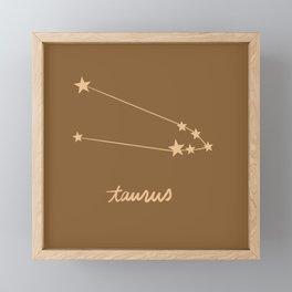 Taurus - Zodiac Constellation Framed Mini Art Print
