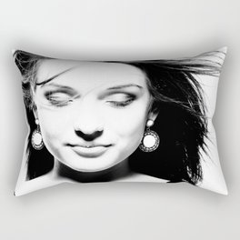 Portrait of a dreamy girl. Rectangular Pillow