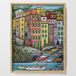 Colours of Riomaggiore Serving Tray
