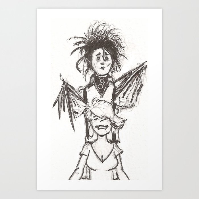 Edward Scissorhands Haircut Art Print By Drono Society6
