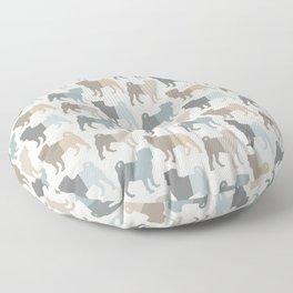 Pugs Pattern - Natural Colors Floor Pillow
