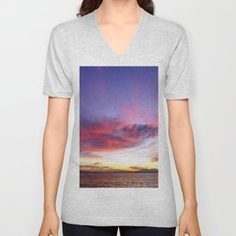 breathtaking sunset Unisex V-Neck