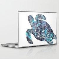 sea turtle Laptop & iPad Skins featuring Sea Turtle by LebensART