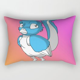 Light Blue/Color-Or-Paint-Your-Own Reptilian Bird 3 #ArtofGaneneK #Animal Rectangular Pillow