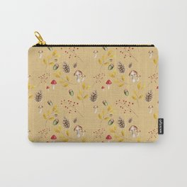 Watercolor Autumn Forest Pattern Carry-All Pouch