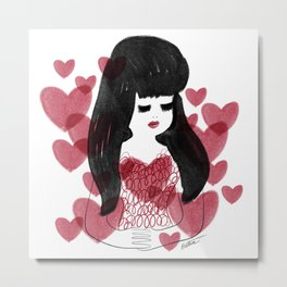 Hearts and hair Metal Print