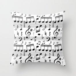 Music Notes Smphony Throw Pillow