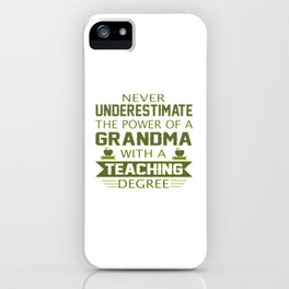 Grandma Teacher iPhone Case